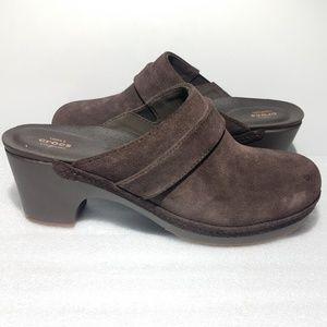 Crocs Womens Size 7 Sarah Suede Clogs Mule Shoes